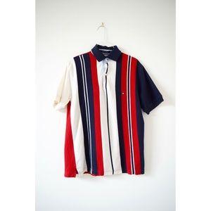TOMMY HILFIGER Vintage Men's Vertical Stripe Polo